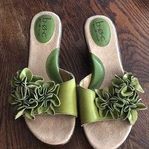 Leather wedge sandal